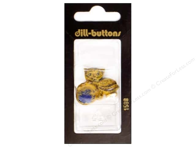 Dill Shank Buttons 1 1/4 in. Beige Kitty and Yarn #1588 1pc.