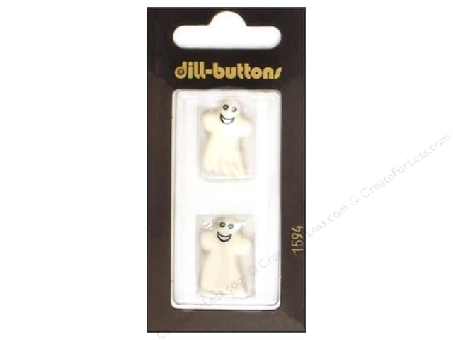 Dill Shank Buttons 7/8 in. White Ghost #1594 2pc.