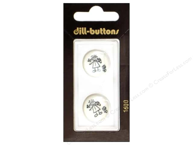 Dill Shank Buttons 11/16 in. Little Girl White #1600 2pc.