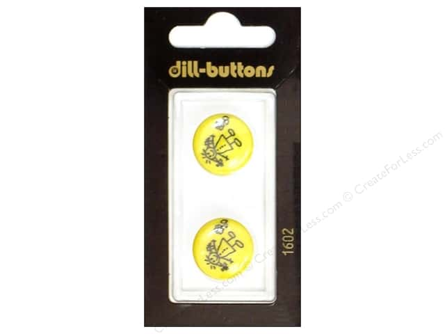 Dill Shank Buttons 11/16 in. Little Girl Yellow #1602 2pc.