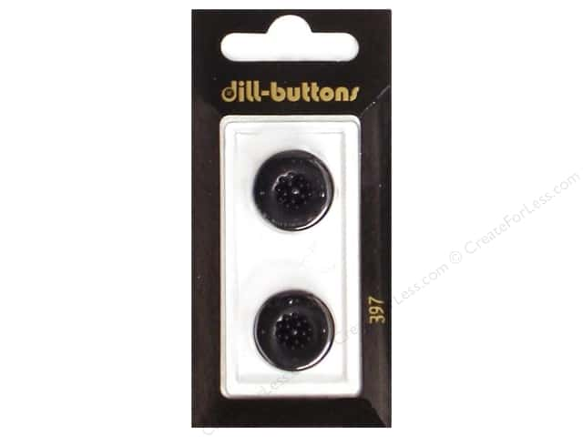Dill Shank Buttons 11/16 in. Black #397 2pc.