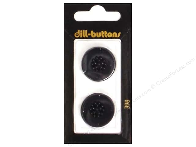 Dill Shank Buttons 7/8 in. Black #398 2pc.