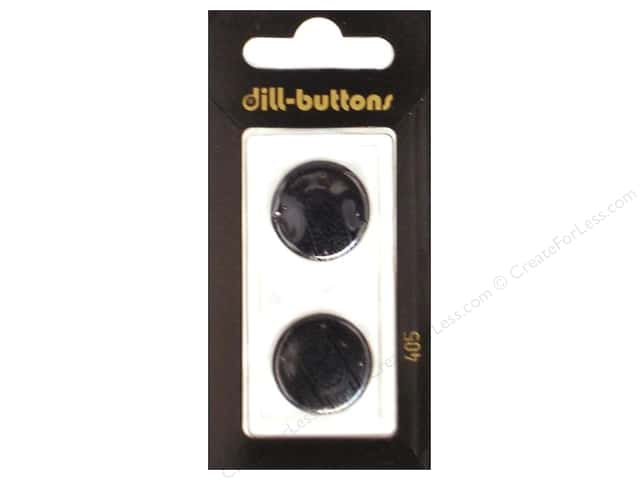 Dill Shank Buttons 13/16 in. Black #405 2pc.