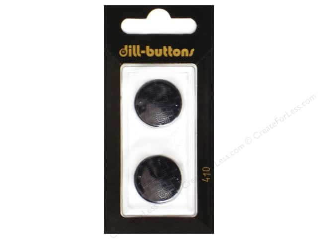 Dill Shank Buttons 3/4 in. Black #410 2pc.