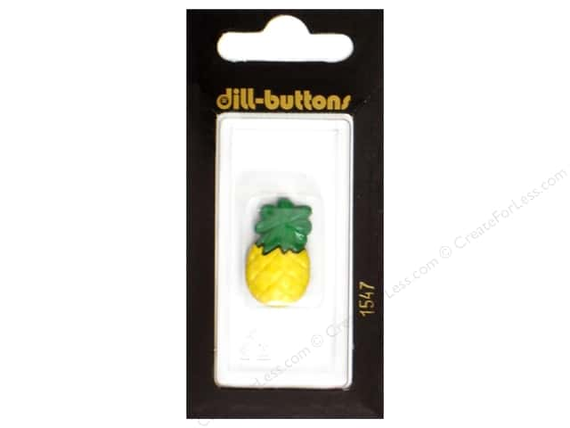 Dill Shank Buttons 1 in. Yellow Pineapple #1547 1pc.