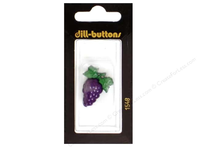 Dill Shank Buttons 1 1/8 in. Purple Grapes #1548 1pc.