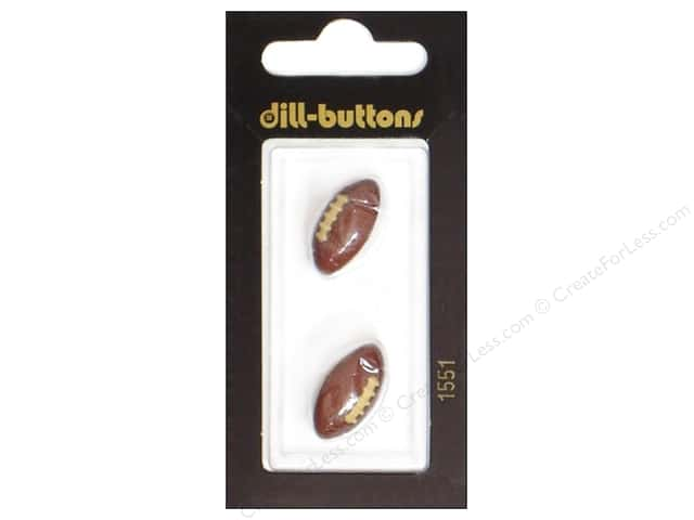Dill Shank Buttons 13/16 in. Brown Football #1551 2pc.