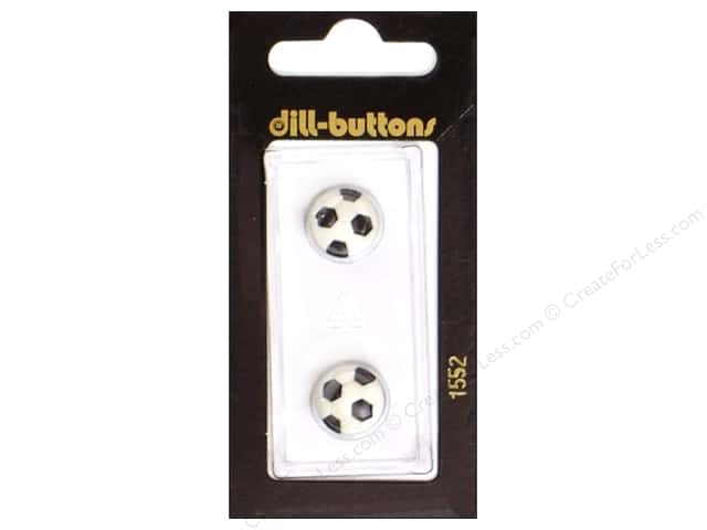 Dill Shank Buttons 1/2 in. Soccer Ball #1552 2pc.