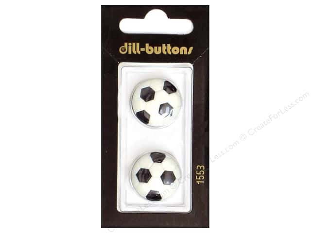 Dill Shank Buttons 13/16 in. Soccer Ball #1553 2pc.