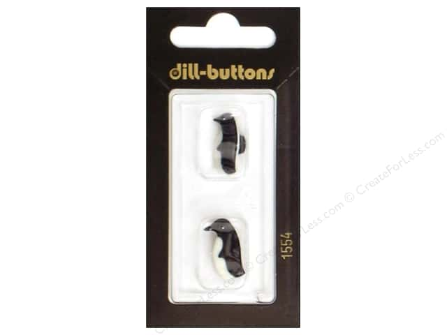 Dill Shank Buttons 11/16 in. Penguin Black/White #1554 2pc.