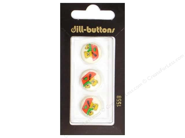 Dill Shank Buttons 5/8 in. Beige Bears Boating #1558 3pc.