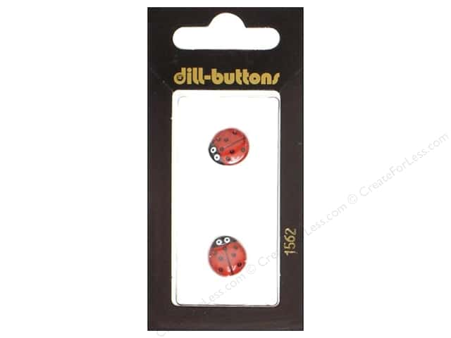 Dill Shank Buttons 7/16 in. Red Ladybug #1562 2pc.