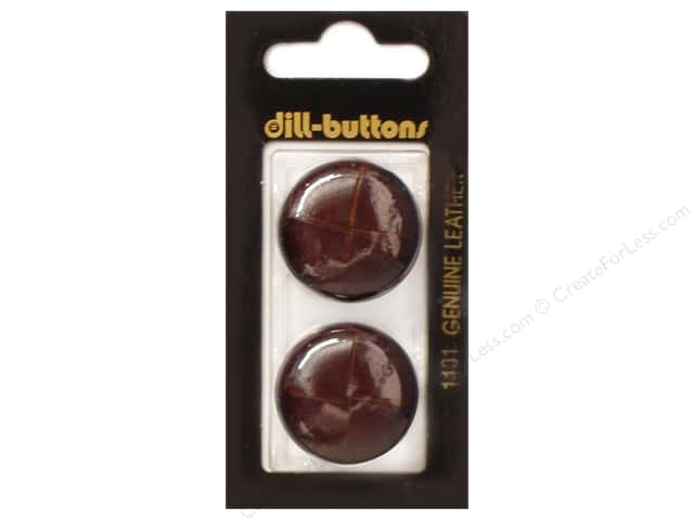 Dill Shank Buttons 1 in. Leather Brown #1101 2pc.