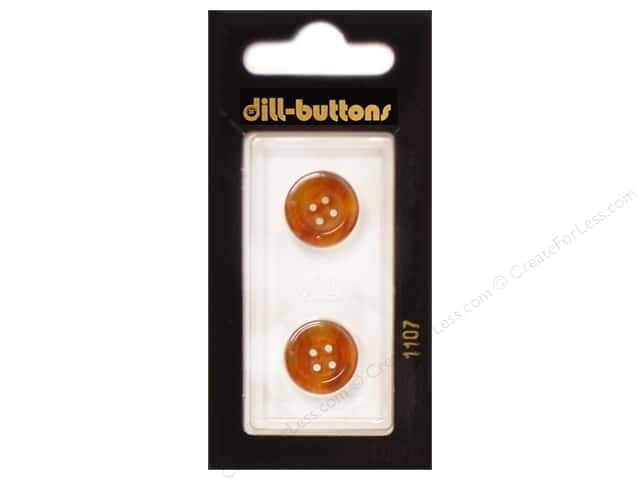 Dill 4 Hole Buttons 5/8 in. Brown #1107 2pc.