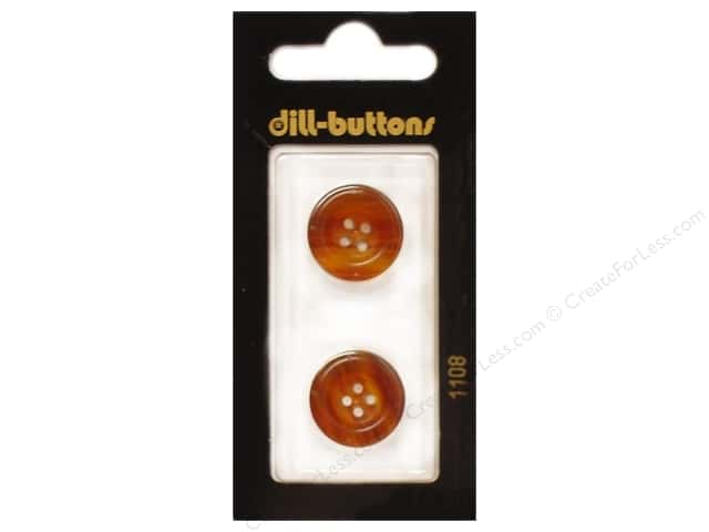 Dill 4 Hole Buttons 11/16 in. Brown #1108 2pc.