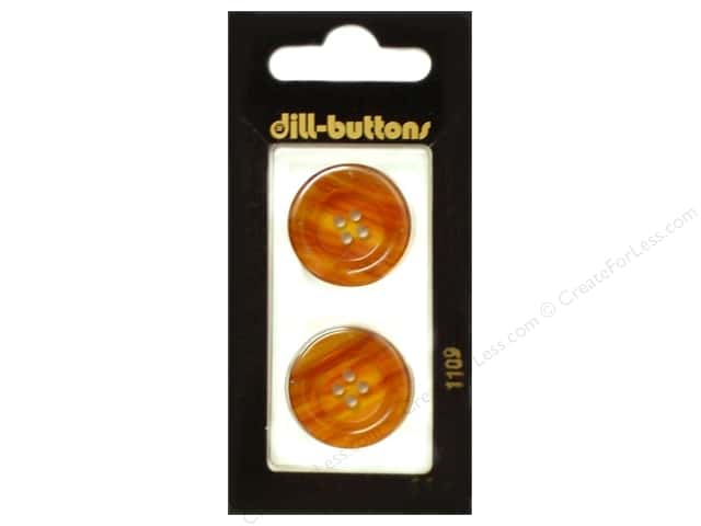 Dill 4 Hole Buttons 7/8 in. Brown #1109 2pc.