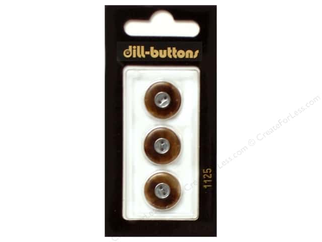 Dill 2 Hole Buttons 5/8 in. Brown #1125 3pc.