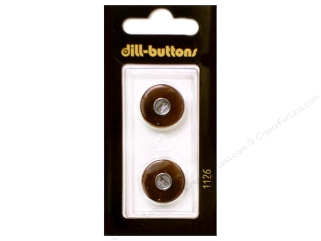 Dill 2 Hole Buttons 11/16 in. Brown #1126 2pc.