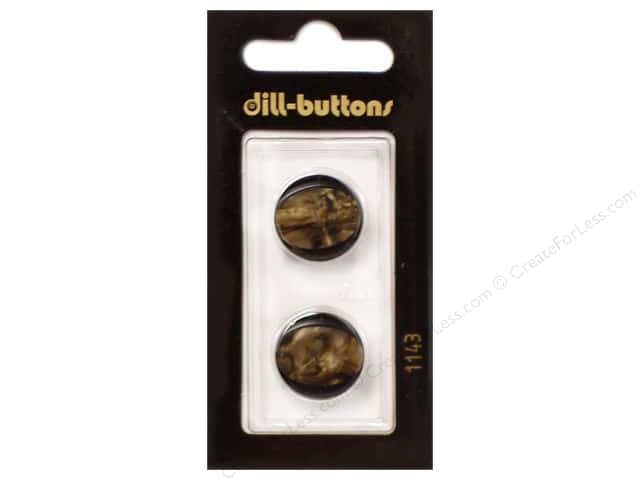 Dill Shank Buttons 11/16 in. Brown #1143 2pc.