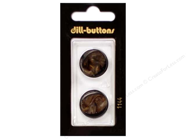 Dill Shank Buttons 13/16 in. Brown #1144 2pc.
