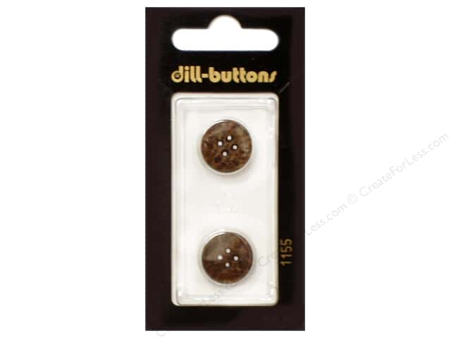 Dill 4 Hole Buttons 5/8 in. Brown #1155 2pc.