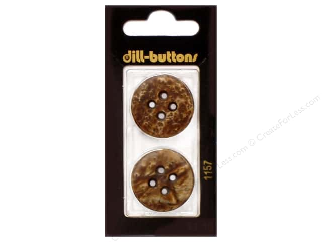 Dill 4 Hole Buttons 1 in. Brown #1157 2pc.
