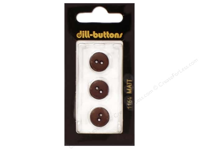 Dill 2 Hole Buttons 1/2 in. Brown #1164 3pc.