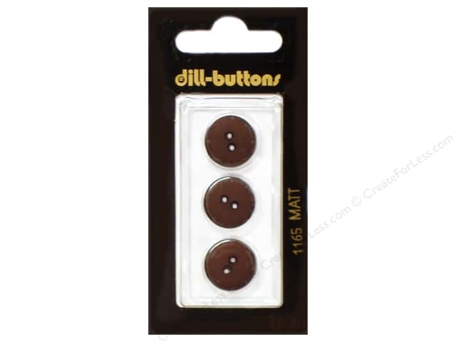 Dill 2 Hole Buttons 5/8 in. Brown #1165 3 pc.