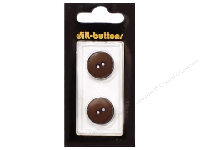 Dill 2 Hole Buttons 11/16 in. Brown #1466 2pc.