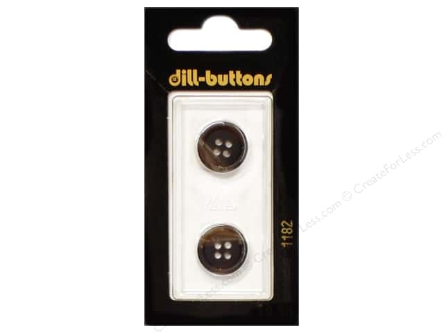Dill 4 Hole Buttons 5/8 in. Brown #1182 2pc.