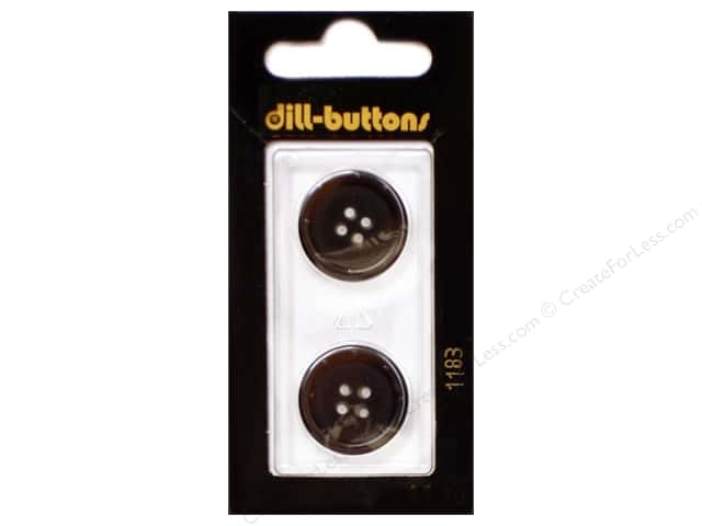 Dill 4 Hole Buttons 13/16 in. Brown #1183 2pc.