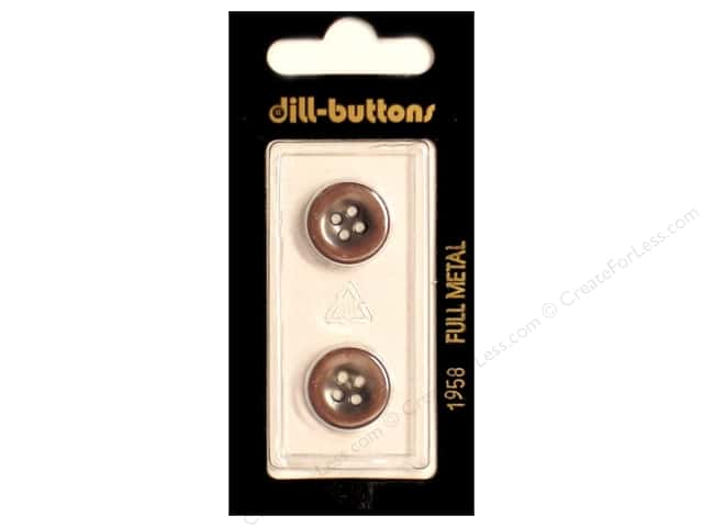 Dill 4 Hole Buttons 5/8 in. Copper Metal #1958 2pc.