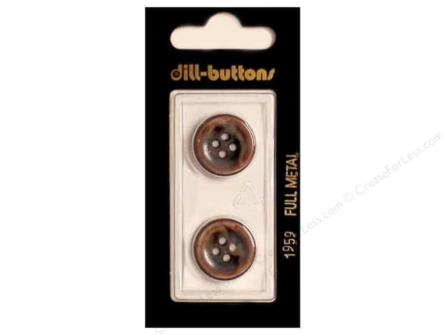 Dill 4 Hole Buttons 11/16 in. Copper Metal #1959 2pc.