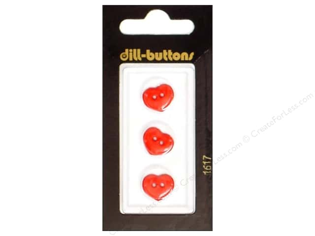 Dill 2 Hole Buttons 1/2 in. Red Heart #1617 3pc.