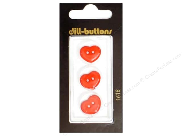 Dill 2 Hole Buttons 5/8 in. Red Heart #1618 3 pc.