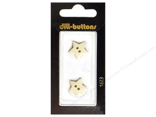 Dill 2 Hole Buttons 5/8 in. White Star #1623 2pc.