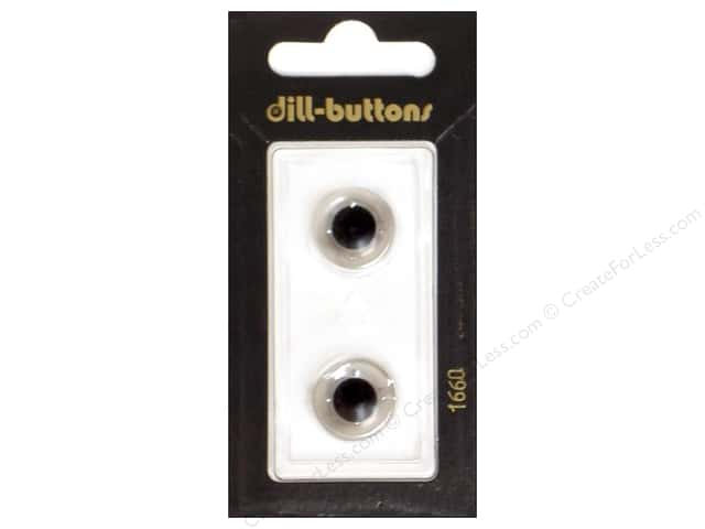 Dill Shank Buttons 5/8 in.Transparent #1660 2pc.