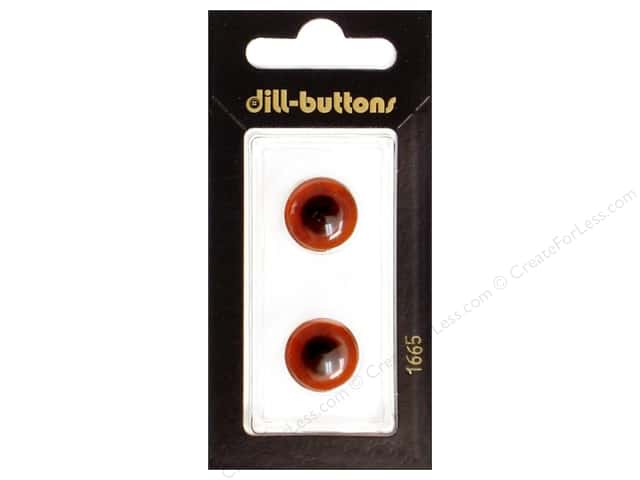 Dill Shank Buttons 5/8 in. Brown #1665 2pc.