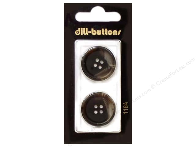 Dill 4 Hole Buttons 7/8 in. Brown #1184 2pc.