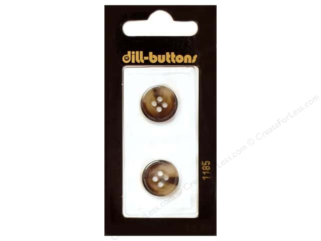 Dill 4 Hole Buttons 5/8 in. Brown #1185 2pc.