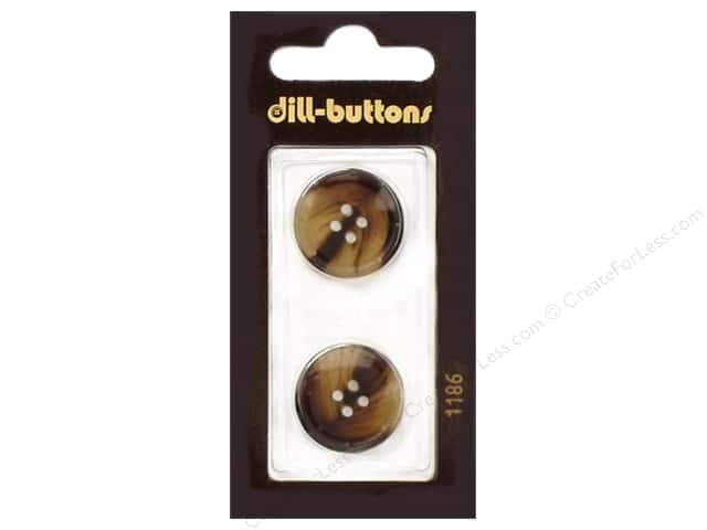 Dill 4 Hole Buttons 13/16 in. Brown #1186 2 pc.