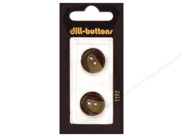 Dill 2 Hole Buttons 11/16 in. Brown #1192 2 pc.