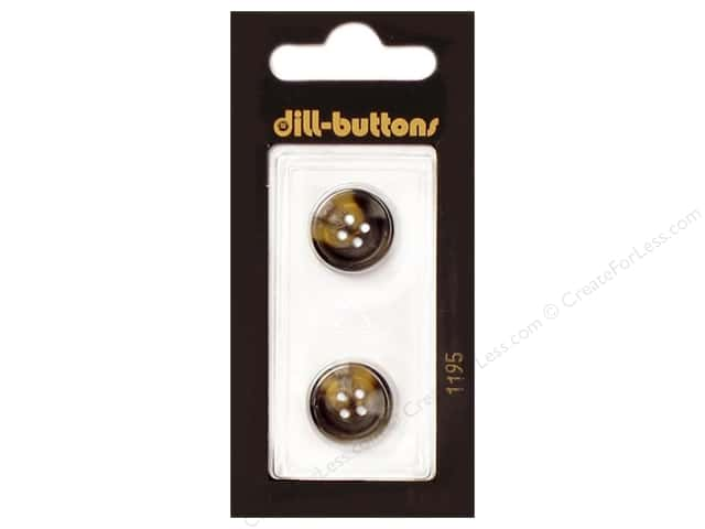 Dill 4 Hole Buttons 5/8 in.Brown #1195 2pc.