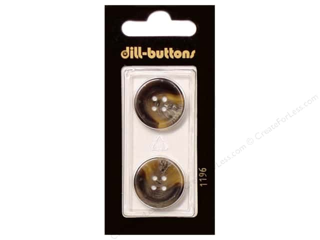 Dill 4 Hole Buttons 13/16 in. Brown #1196 2pc.