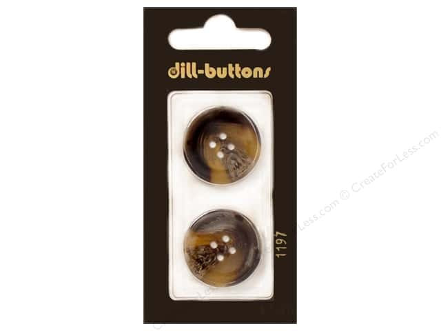 Dill 4 Hole Buttons 7/8 in. Brown #1197 2 pc.