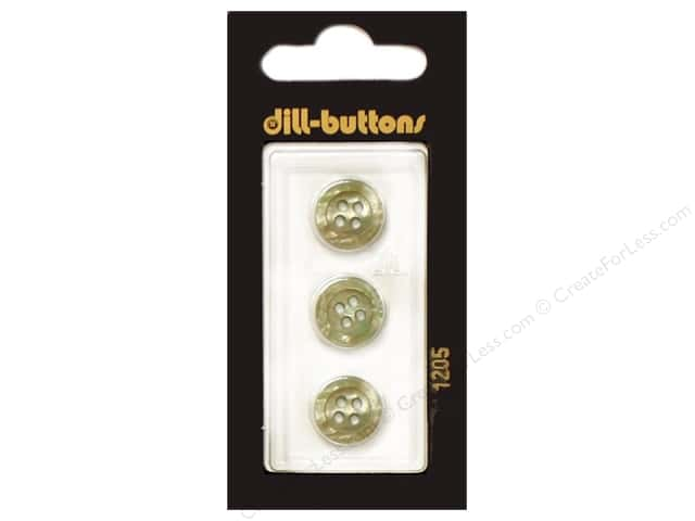 Dill 4 Hole Buttons 1/2 in. Beige #1205 3pc.