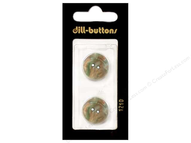 Dill 2 Hole Buttons 11/16 in. Dark Green #1210 2pc.