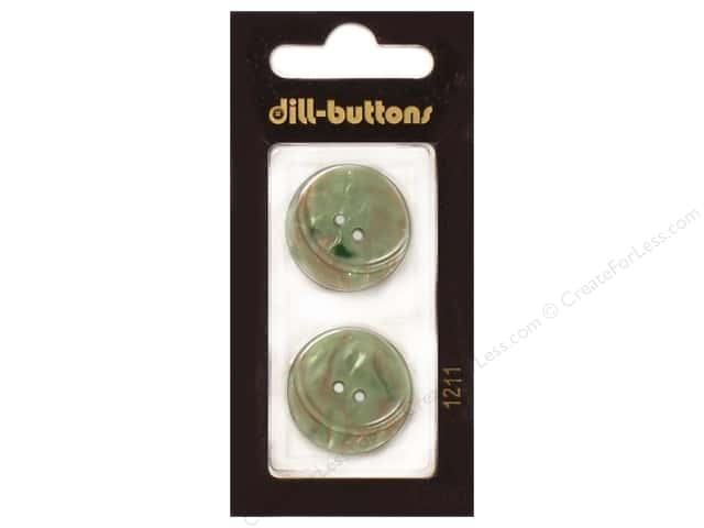 Dill 2 Hole Buttons 7/8 in. Dark Green #1211 2pc.