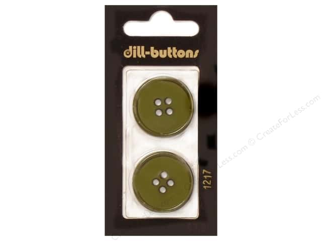 Dill 4 Hole Buttons 1 in. Olive Green #1217 2pc.