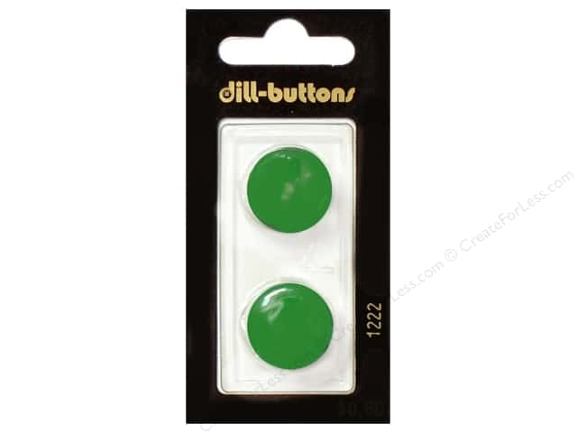 Dill Shank Buttons 3/4 in. Green #1222 2pc.